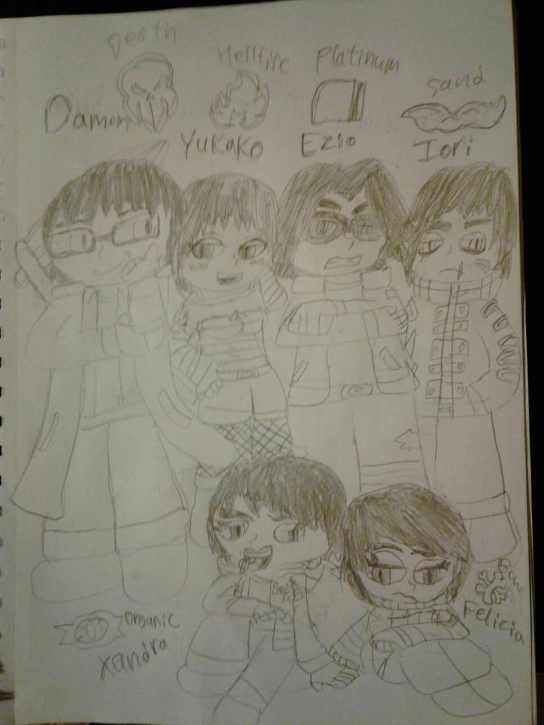 Zuruna's Kids(Black and White) by SlyZeke101