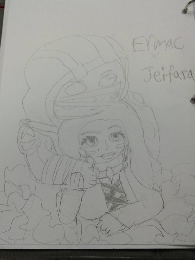 Ermac x Jeifara by SlyZeke101