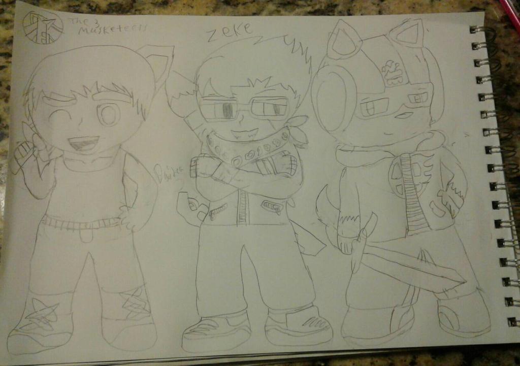 The Three Musketeers  by SlyZeke101