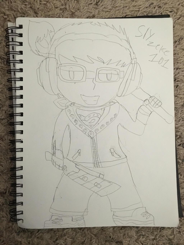Quick Drawing of Myself by SlyZeke101