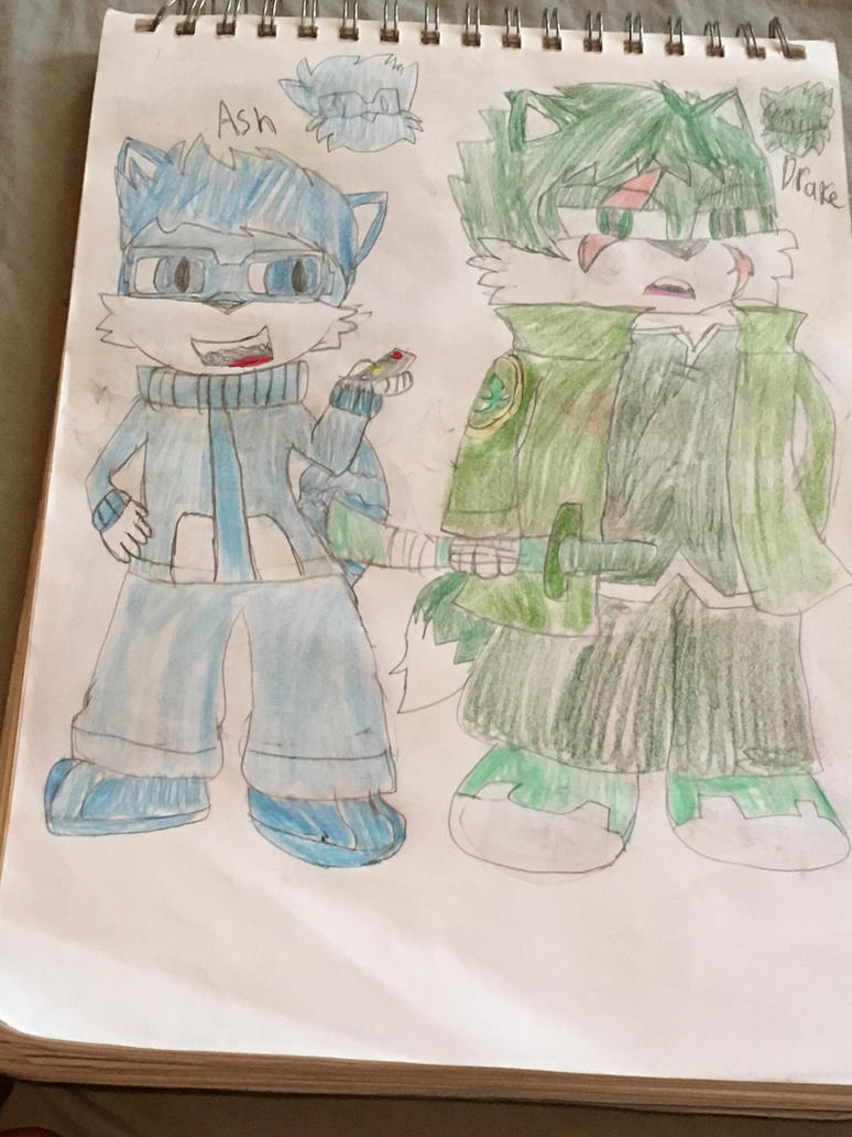 Sonic OC Redesigns 2/5: Ash and Drake  by SlyZeke101