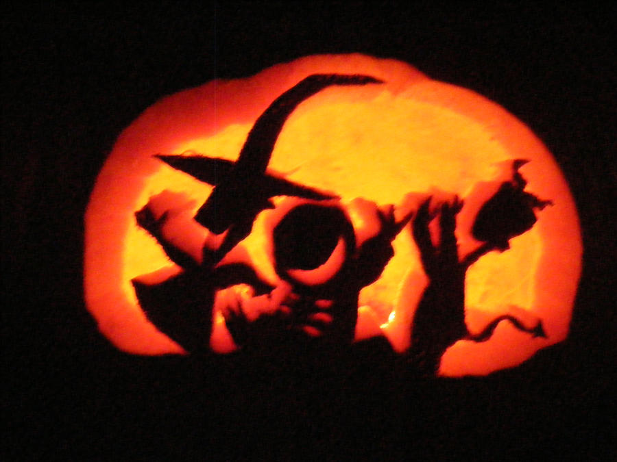 Lock, Shock, Barrel Pumpkin by WugleMaker