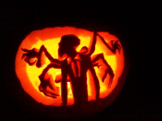 Beware slenderman pumpkin by wuglemaker on deviantart