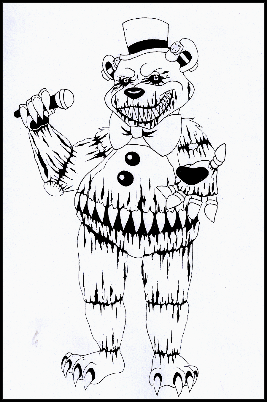Nightmare fredbear by pusheenlovesnoodles on deviantart for Fnaf coloring pages nightmare