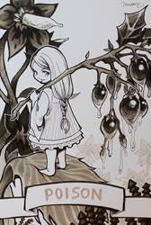 INKTOBER 2017 : Poison (3) by Sophie-Dreamy