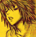 L of Deathnote on Post-it Note