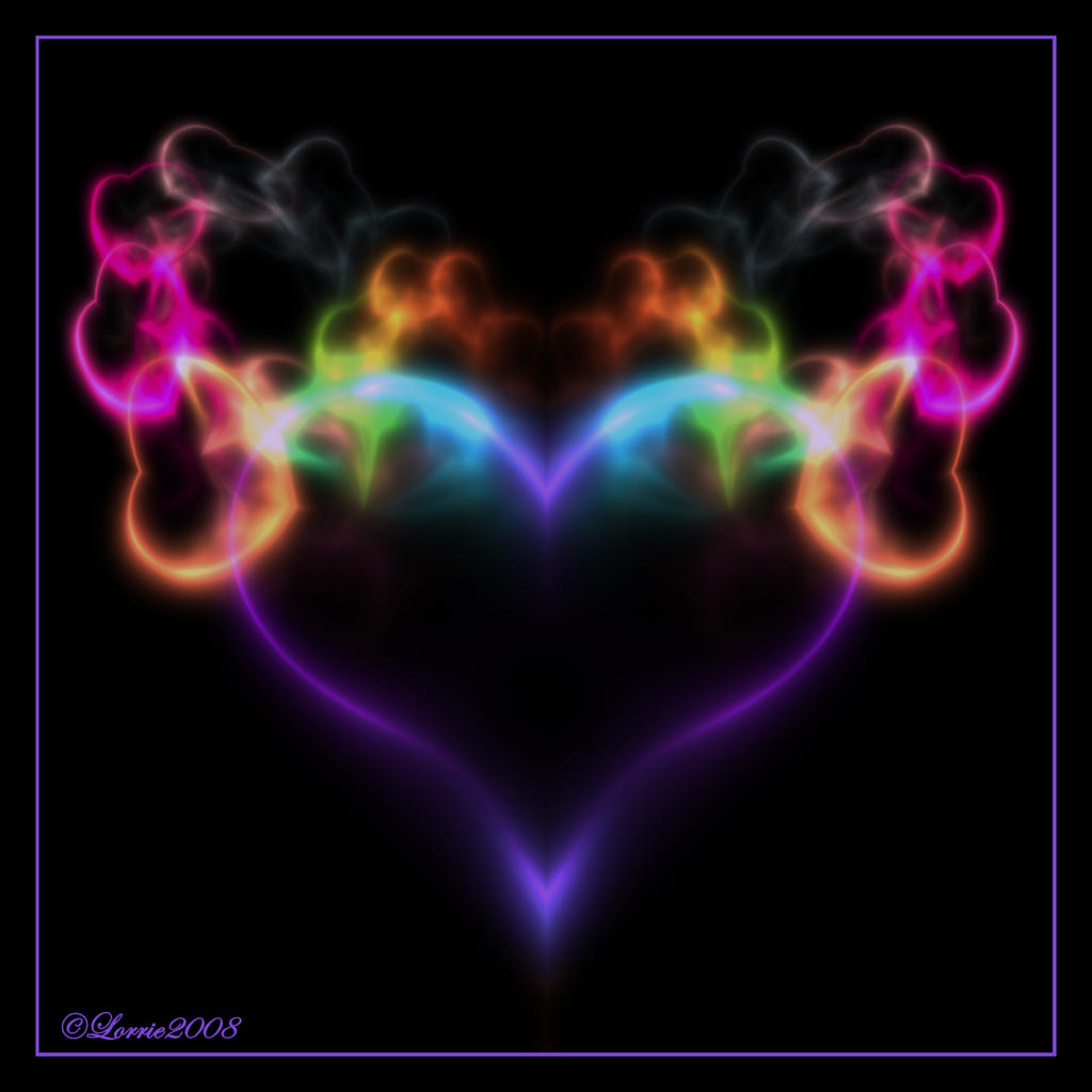 Flaming Neon Heart by Colliemom on DeviantArt