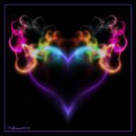 Flaming Neon Heart