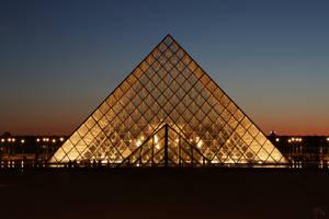 Pyramid at Night by AyseSelen