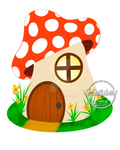 Mushroom House by OneCraftyLady