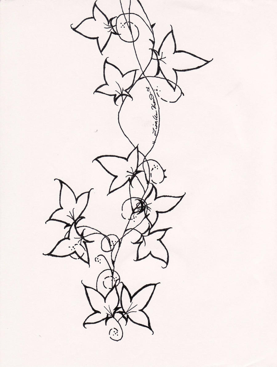 This is a graphic of Mesmerizing Ivy Xname Drawing