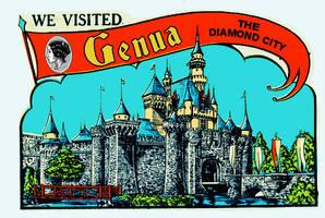 Genua postcard by funkydpression