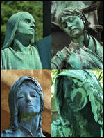 Green Faces by funkydpression
