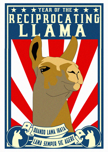 Reciprocating Llama by funkydpression