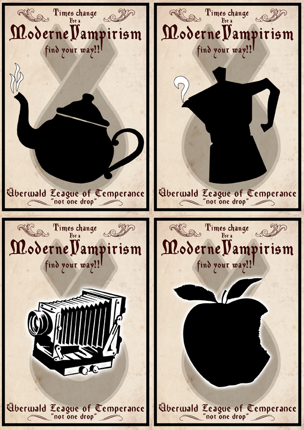 Uberwald temperance league posters by funkydpression