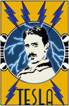 tesla poster by funkydpression
