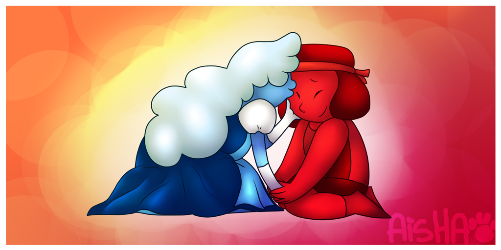 Sapphire x Ruby by AishaArts