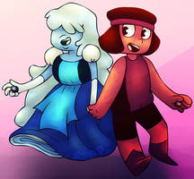 Sapphire and Ruby by AishaArts