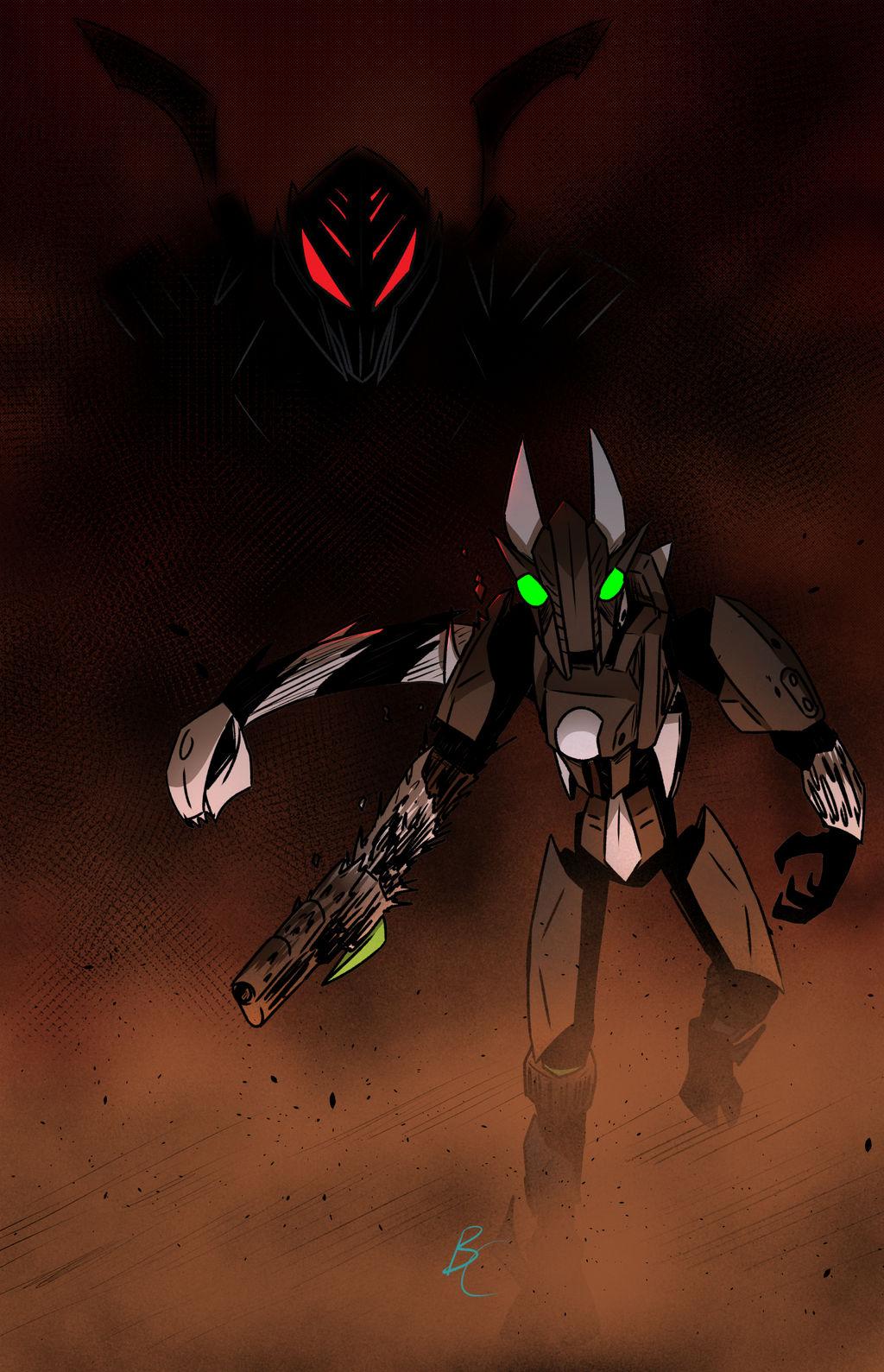 COMMISSION: Triglax and Darkness
