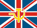 UK Union Flag with hammer and sickle