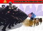 Let Us Drive Out The Imperialist Dogs Poster