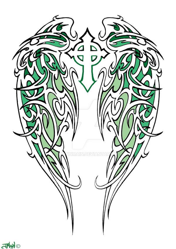 Tribal Angel Wings By Justinmain On Deviantart