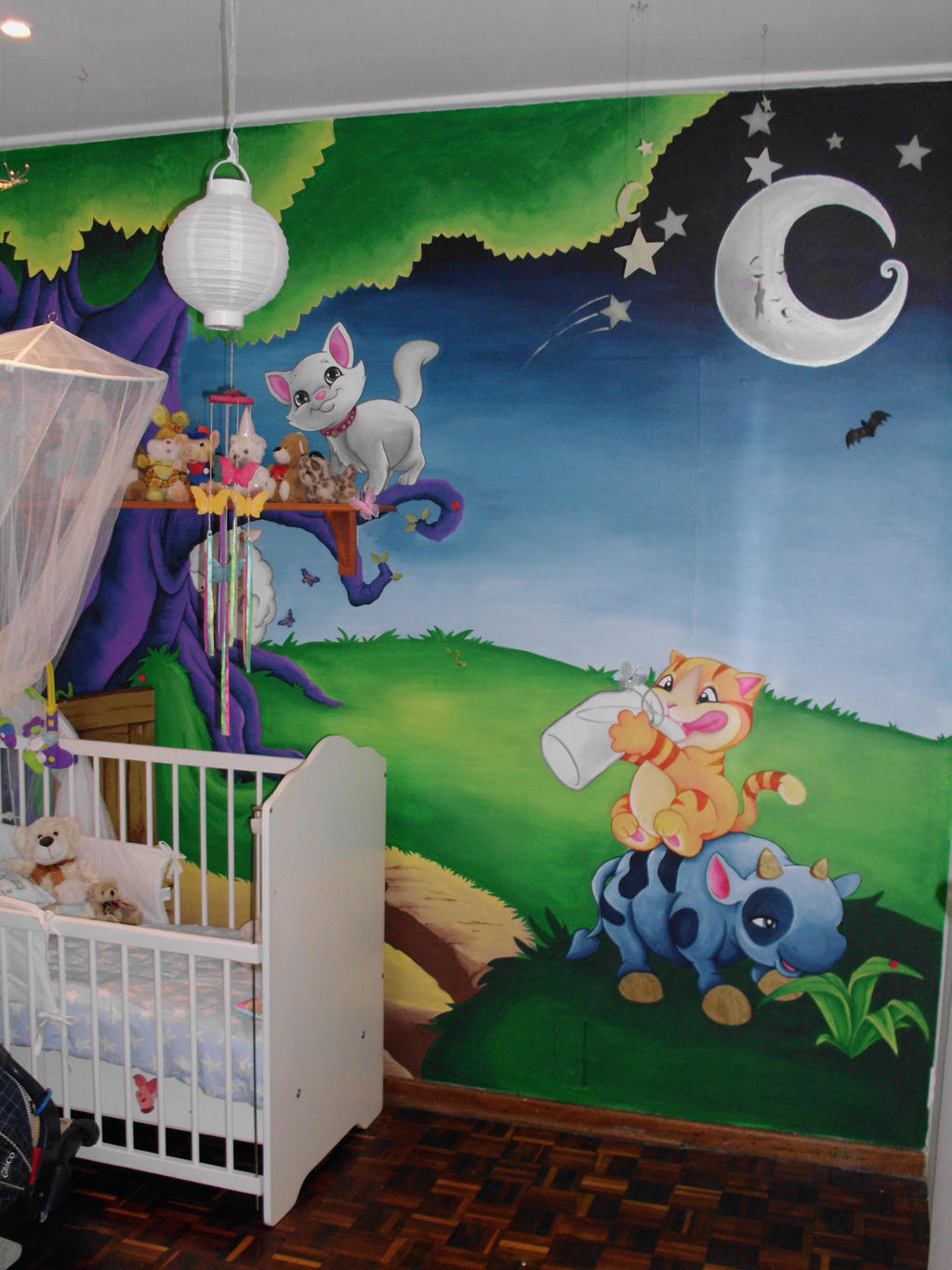 Baby room wall mural final by justinmain on deviantart for Baby room wall mural ideas