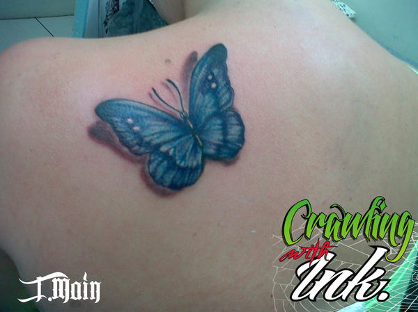 3d Butterfly Tattoo By Justinmain On Deviantart