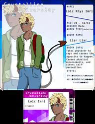 Cryst-Uni :: Loic Imri Application by kelsanity