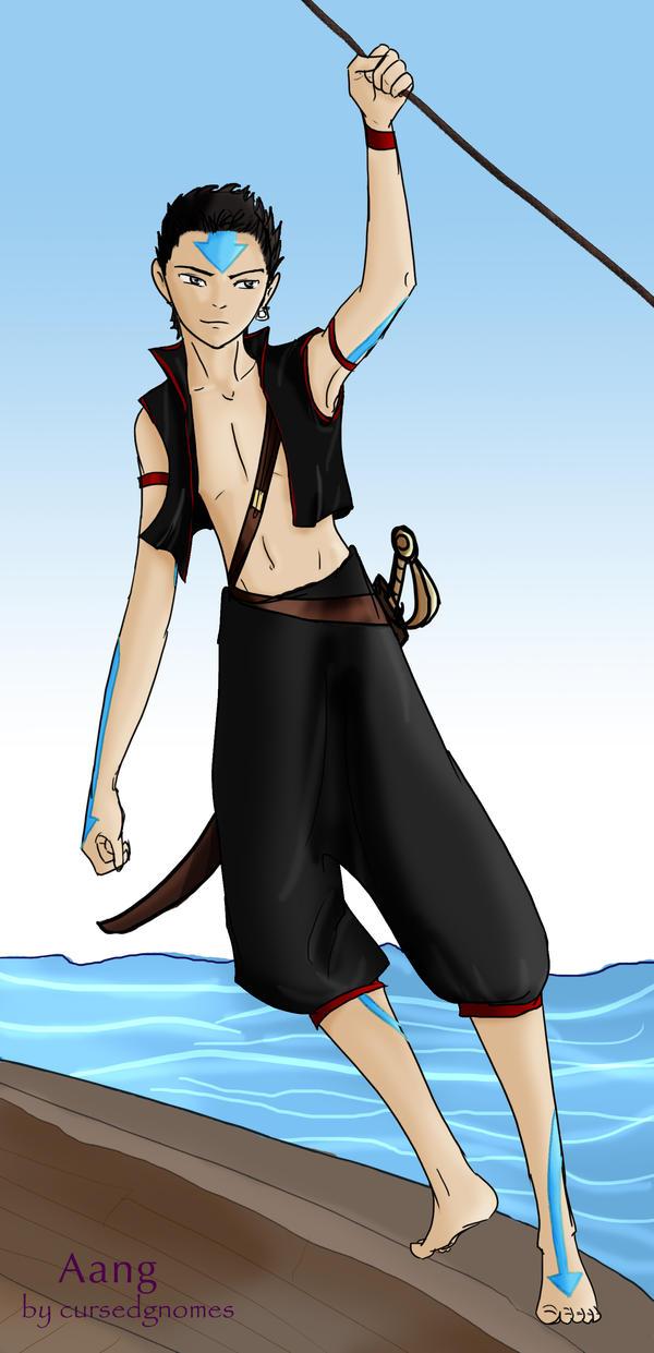 .:Avatar Pirates:. Aang by cursedgnomes on DeviantArt