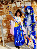 Yuna and Shiva by Mimisa
