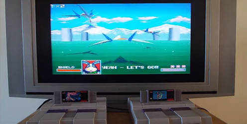 Playing star fox (SNES) by Tail800