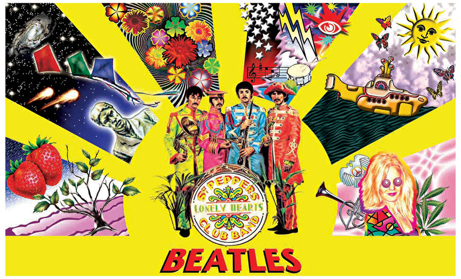 Beatles Psychedelic By Suinormal