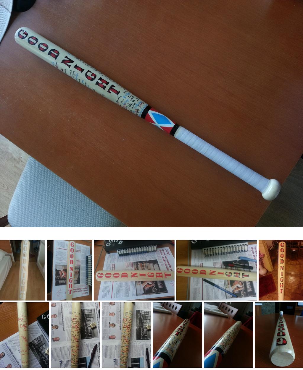 Harley Quinn baseball bat by niC00L