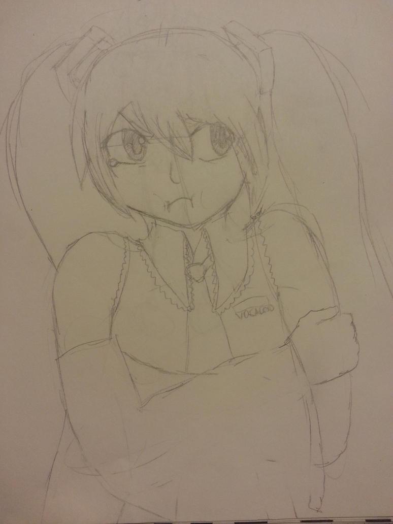 Miku Hatsuneeeee by WeirdnessMaster25