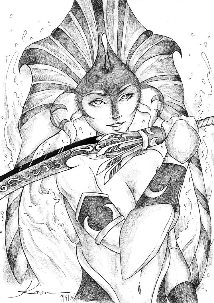 Naga Siren - Slithice by Ahko0N