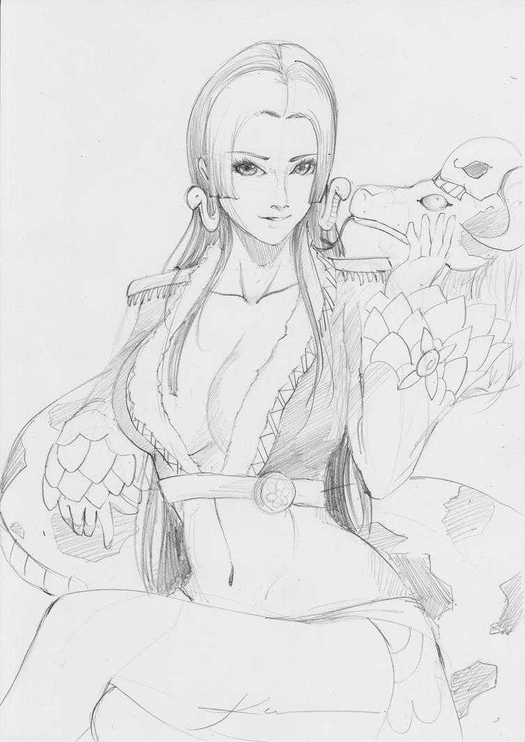 Boa Hancock Sketch by Ahko0N