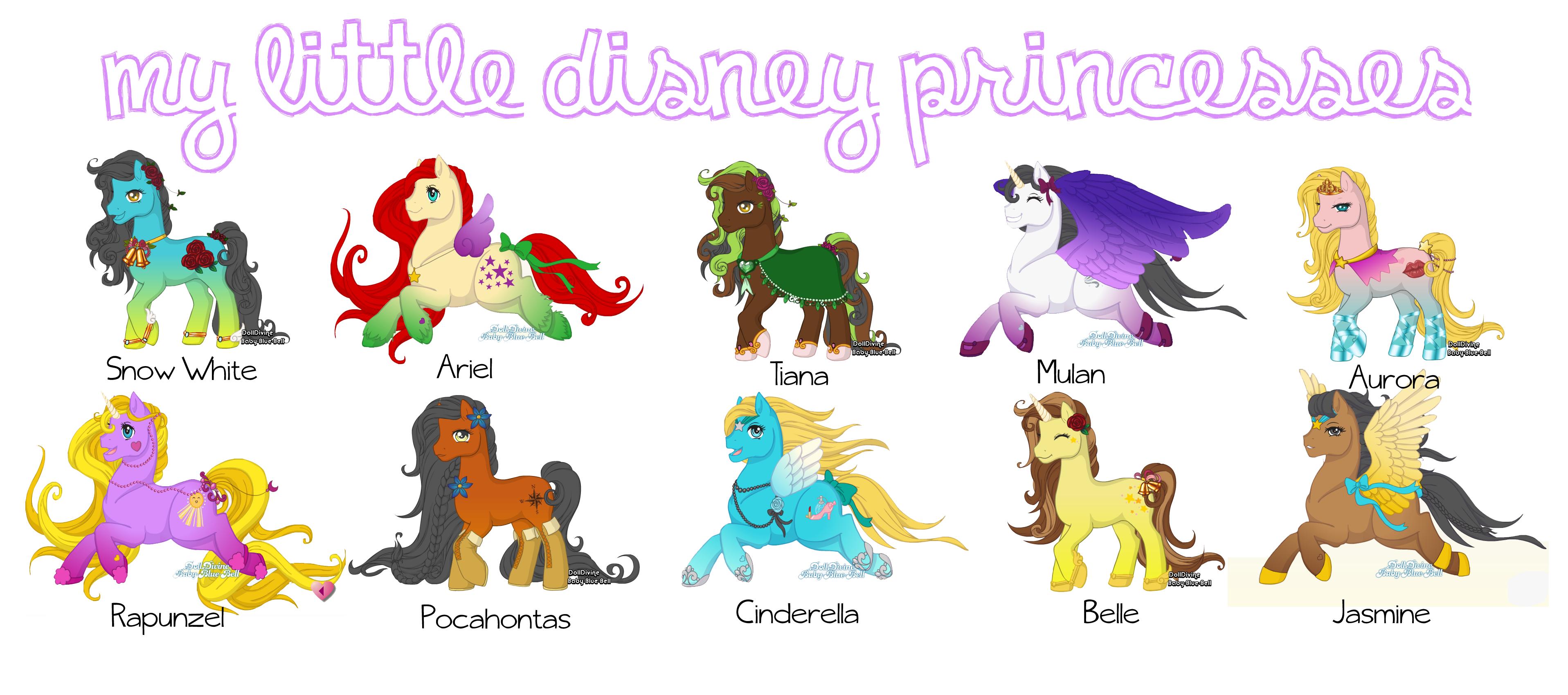 My Little Disney Princesses By Blaiseastra On DeviantArt