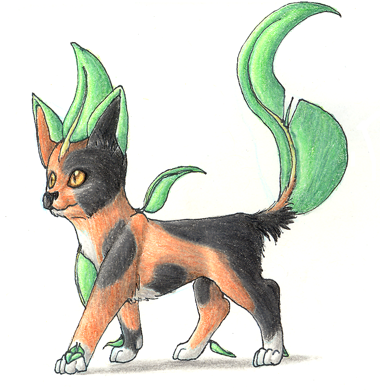 Shiny Leafeon - Simba by altered-worlds on DeviantArt