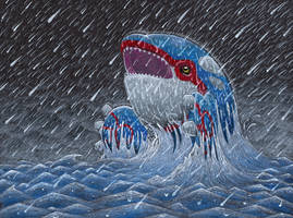Kyogre - Drizzle by altered-worlds