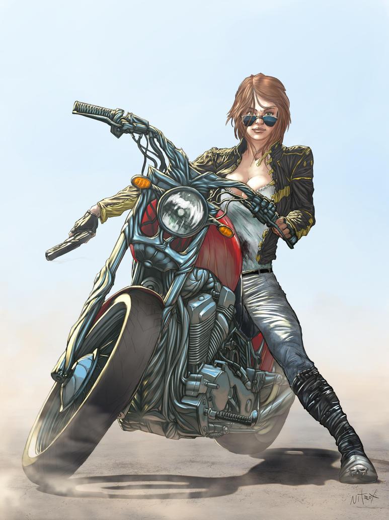 Girl moto color by Nitrox-Marquez