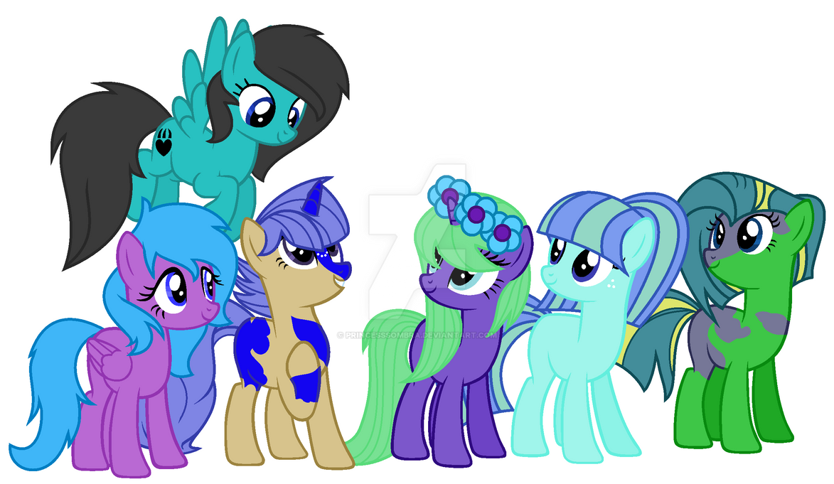 Other Mane 6 by PrincessSombra