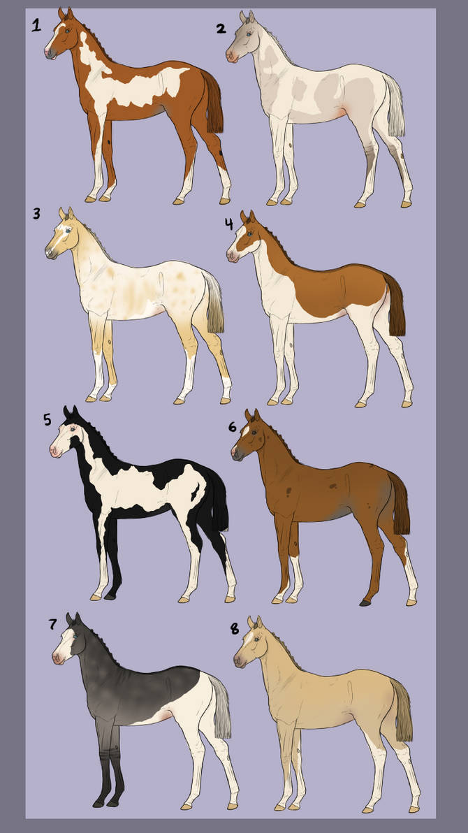 Foal adopts (5/8 Open, pay what you want) by Stripe13 on
