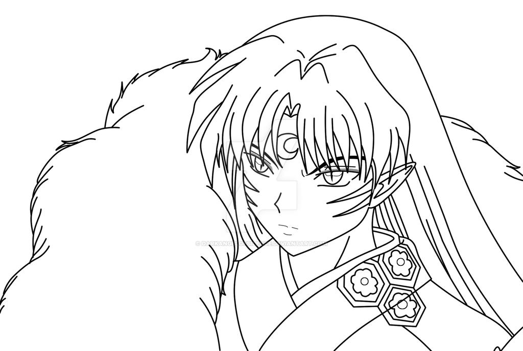 sesshoumaru coloring pages - photo#18