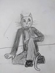 random cat man