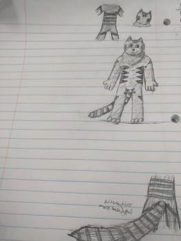 Fursona ref thing (notebook) by TyGuytheTimeTraveler