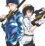 Akai and Sera with Sniper rifle