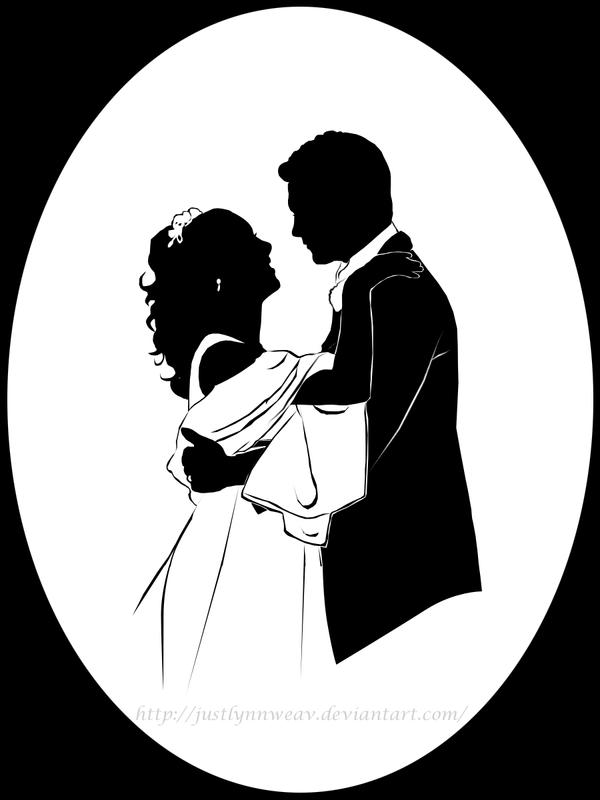 wedding portrait silhouette by justlynnweav on deviantart. Black Bedroom Furniture Sets. Home Design Ideas