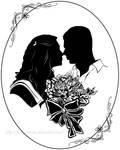 wedding portrait silhouette 2 by JustLynnWeav