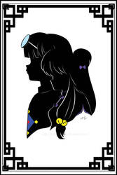R1/2 - Shampoo and Mousse Silhouette portrait by JustLynnWeav